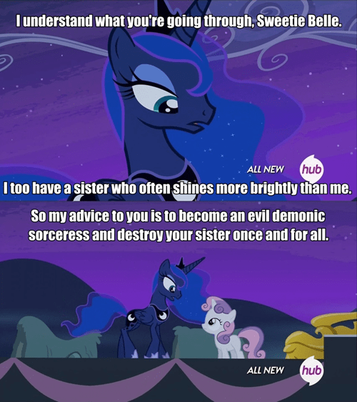 Sweetie Belle,revenge,princess luna