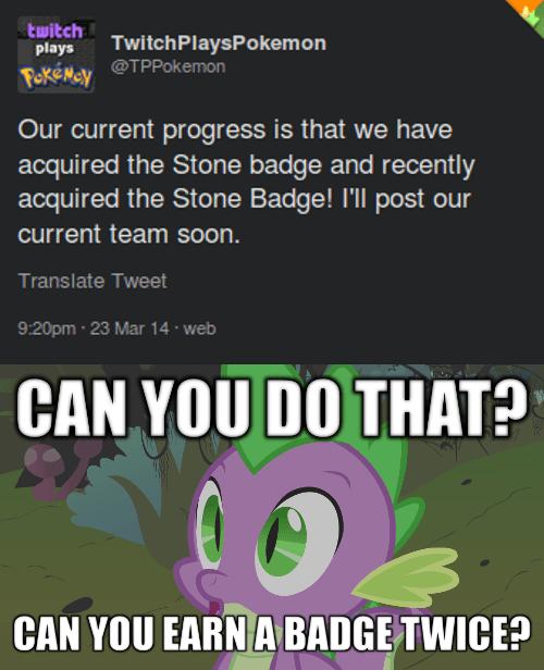 spike stone badge twitch plays pokemon - 8119323392