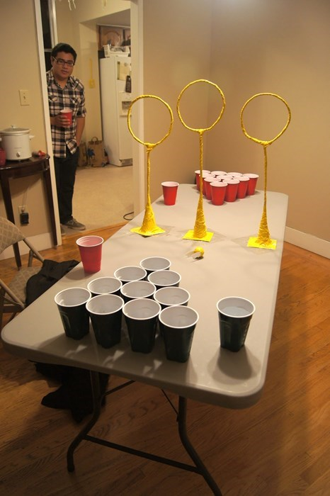 Harry Potter beer pong funny quidditch after 12 g ratd