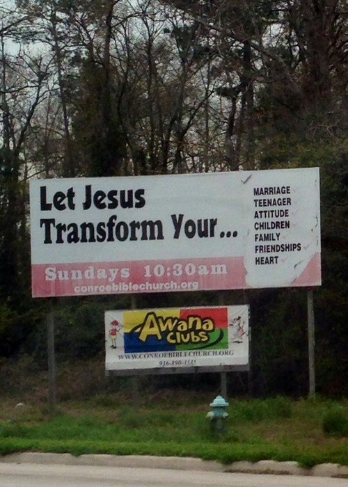 jesus sign ads funny - 8119524352