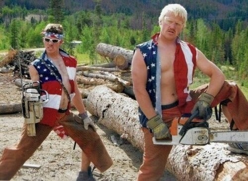 poorly dressed,sexy men,flag,funny