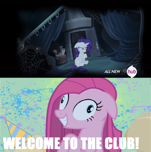 pinkie pie,rarity,unhinged