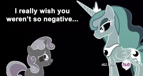 negative Sweetie Belle princess luna