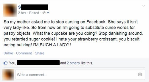 cursing,food,swears,failbook