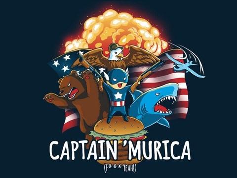 murica tshirts captain america - 8119680768