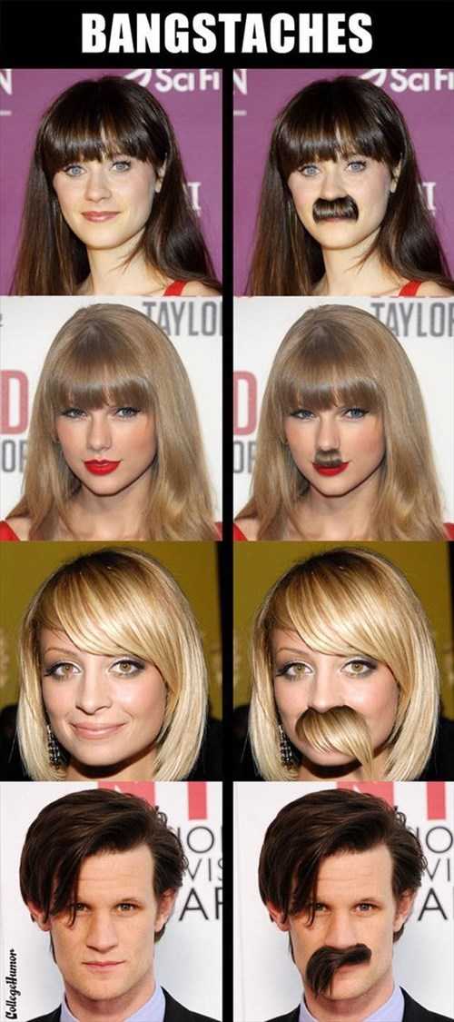 bangs photoshop celeb mustaches - 8119696384