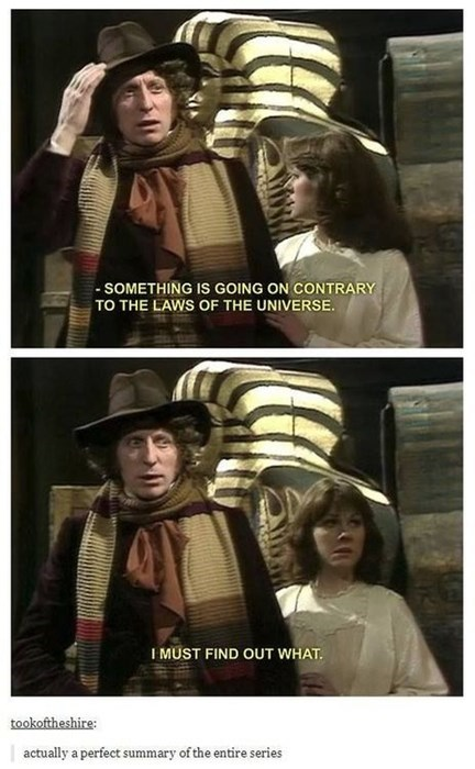 Tom Baker Sums Up The Doctor's Motivations