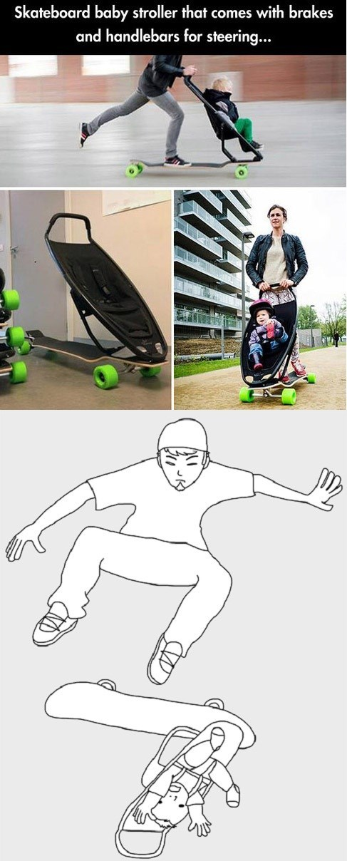 Babies,skateboards,great points in tony hawk,parenting,kickflip