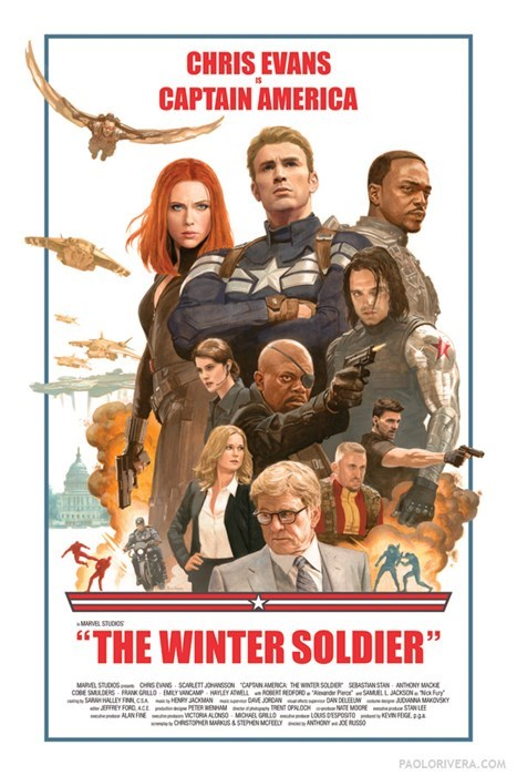 poster winter soldier captain america - 8120324608