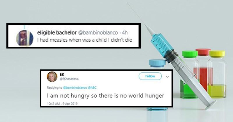 twitter outbreak medicine twitter reactions disease anti-vaxxers unvaccinated stupid people new york funny tweets anti-vax vaccine measles measles outbreak - 8120325
