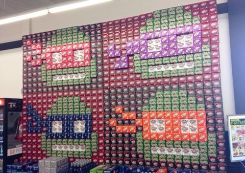 monday thru friday teenage mutant ninja turtles pop TMNT soda work grocery store g rated - 8120358400