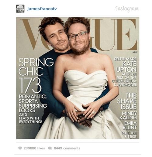 Seth Rogen,instagram,James Franco,kim kardashian,kanye west,funny