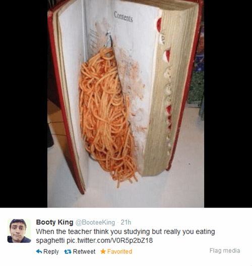 homework twitter school spaghetti teachers - 8120376832