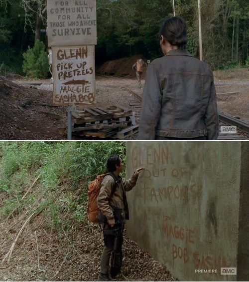 shopping,Maggie Greene,Glenn Rhee
