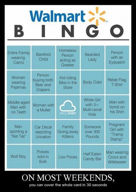 Walmart,funny,bingo