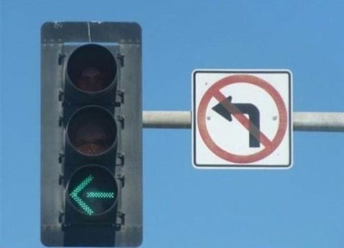 driving,traffic signs,no left turn,traffic