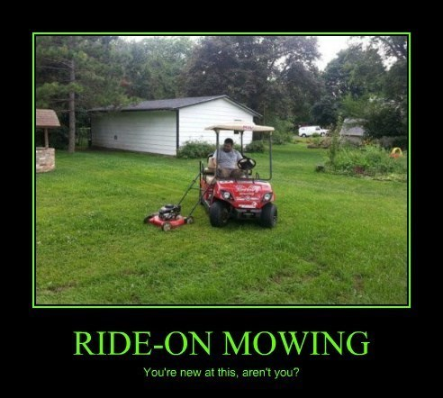 wtf lawnmower idiots funny - 8120577280