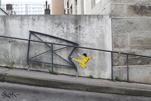 Street Art,graffiti,bruce lee,hacked irl,g rated,win