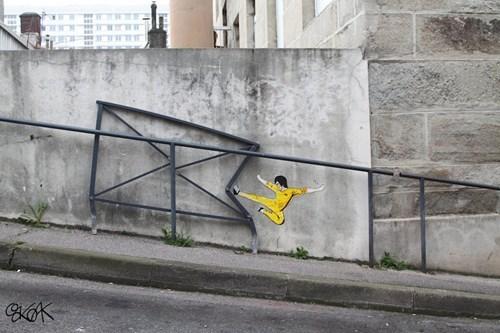 Street Art graffiti bruce lee hacked irl g rated win - 8120602880