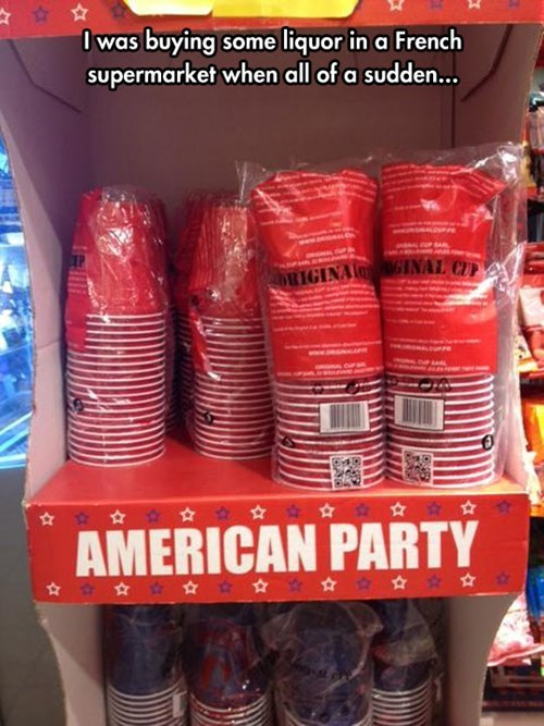 alcohol,solo cups,american party,party hard,france