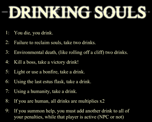 dark souls,drinking games,Video Game Coverage