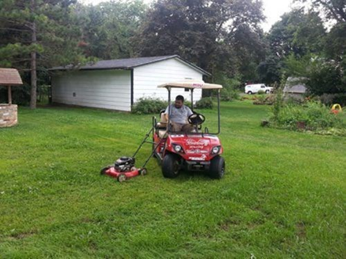 mowing the lawn lawnmowers golf carts - 8120685824
