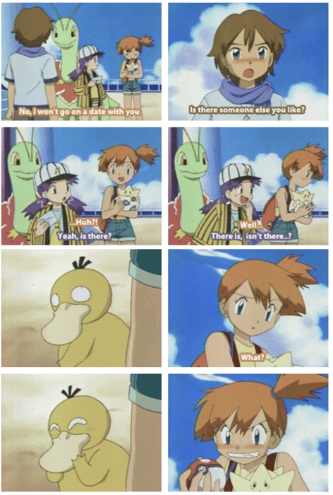 Pokémon,Psyduck,anime,misty