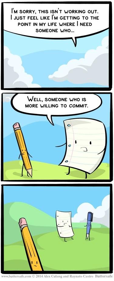 pencil pens paper relationships web comics - 8120788224