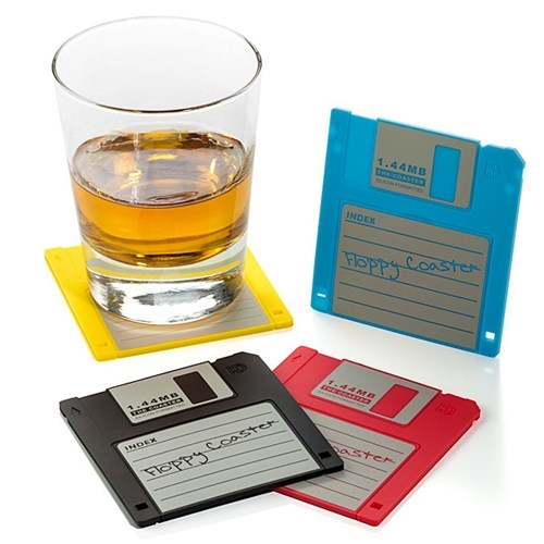coasters,outdated,floppy disk,repurposed