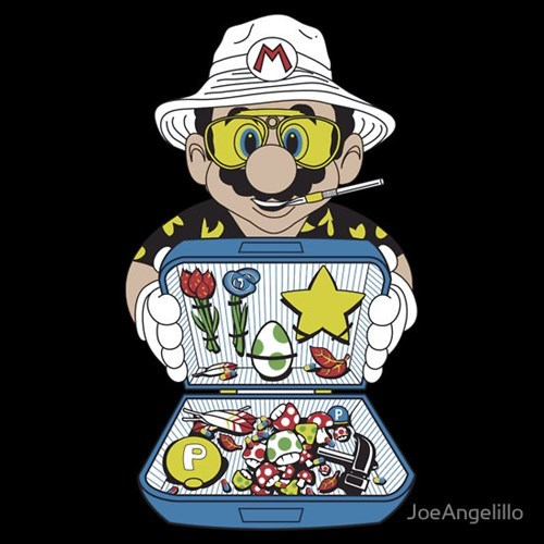 Hunter S Thompson tshirts mario - 8120850176