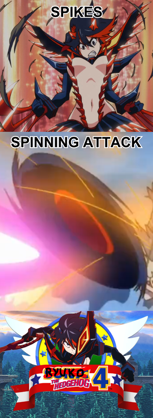 anime sonic the hedgehog kill la kill - 8121140992