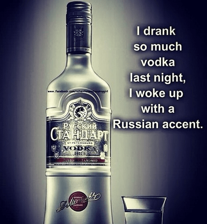 vodka russian accent funny