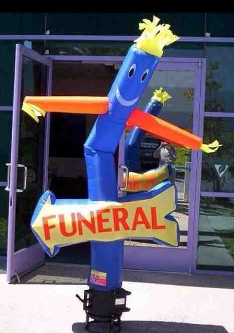 funeral wacky waving inflatable arm flailing tube man - 8121741568
