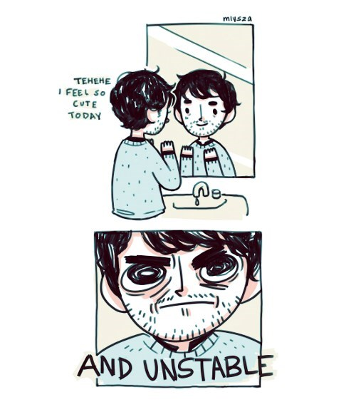 mirrors unstable looks web comics - 8121798400