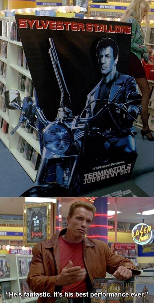 terminator 2 Arnold Schwarzenegger Sylvester Stallone - 8121832192
