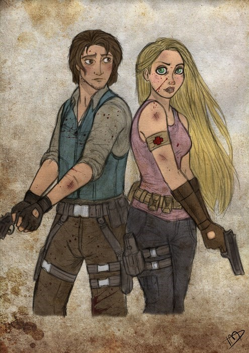 disney,Fan Art,nerdgasm,The Walking Dead