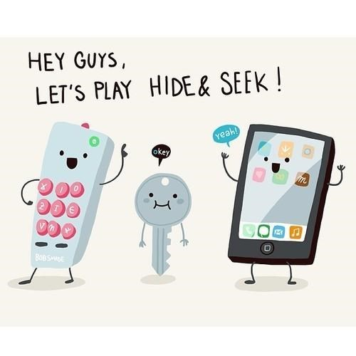 keys phones remote controls lost stuff comics webcomics - 8121854976