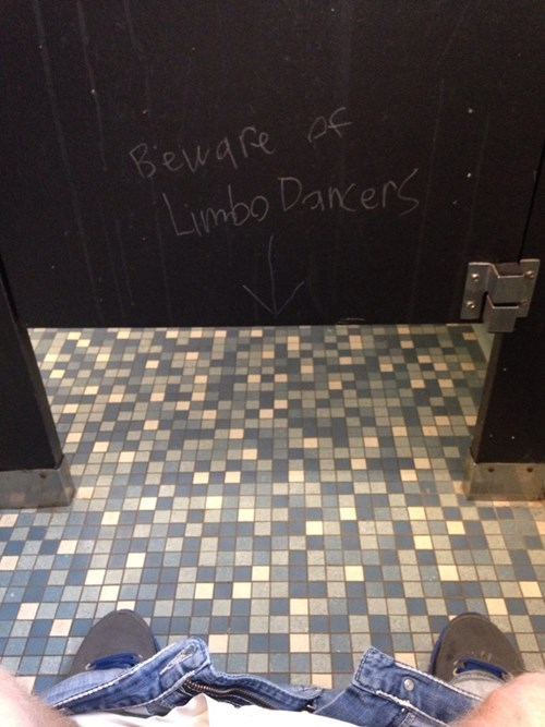 bathrooms,limbo dancers