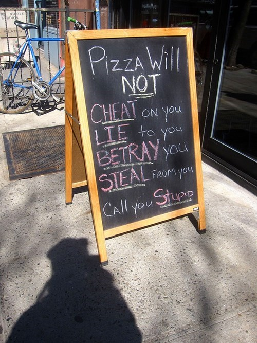 sign,pizza,wisdom