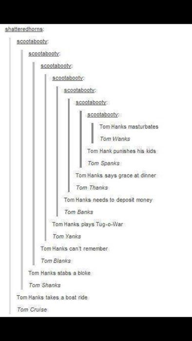 puns,tom hanks