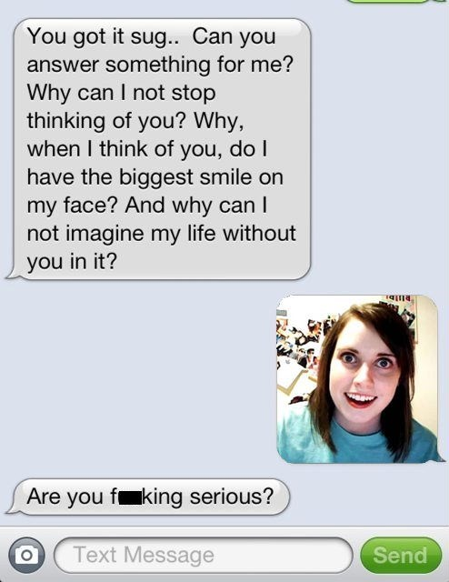 text overly attached girlfriend cute funny - 8122311936