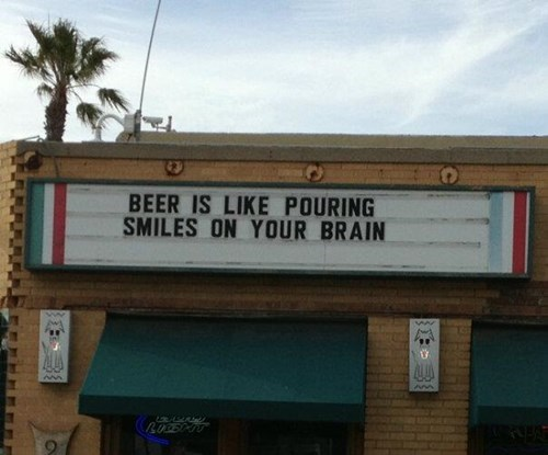 beer sign smiles brain funny after 12 g rated - 8122355200