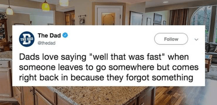 Funny tweets about what dads love saying.