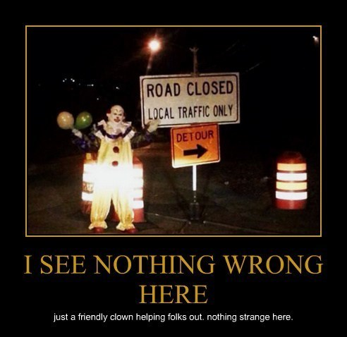 wtf clown creepy funny
