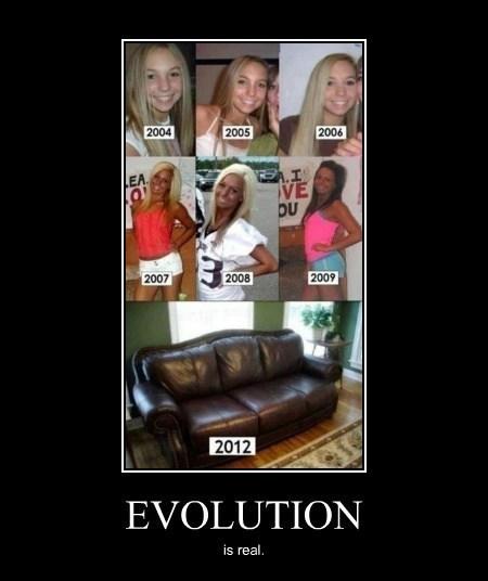 evolution eww tanning idiots funny - 8122845440