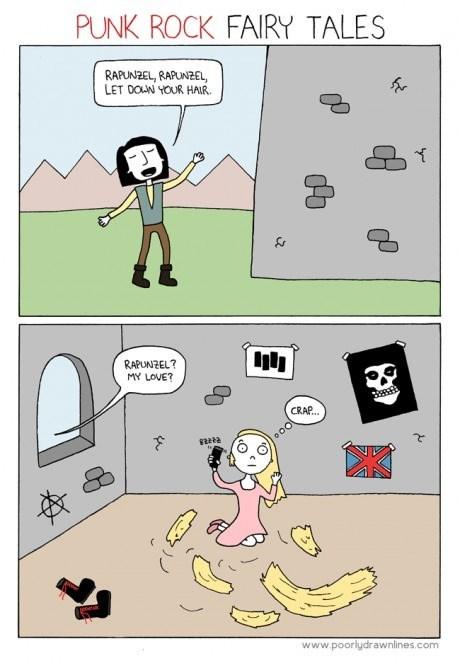 punk fairy tales rapunzel web comics