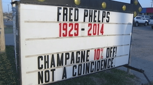 Westboro Baptist Church fred phelps liquor liquor stores - 8122884608