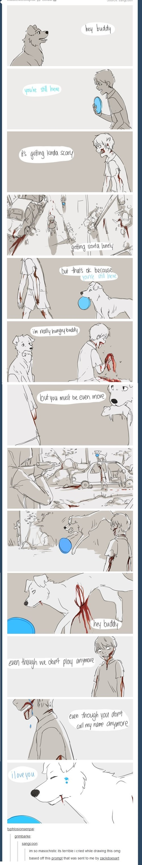 dogs,zombie,zombie apocalypse,the feels,web comics