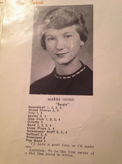 ambition,high school,funny,grandma,vintage
