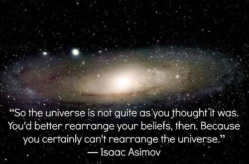 isaac asimov quote sci fi universe - 8123148032